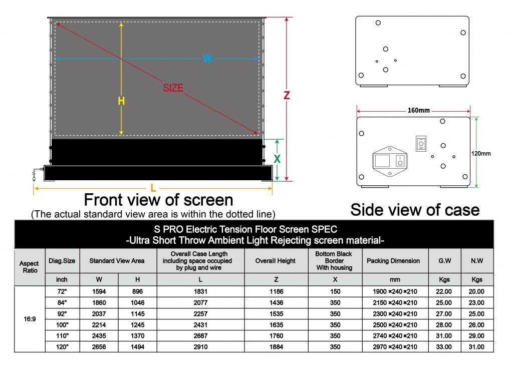 Vividstorm S Pro Size Dimensions